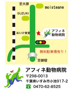 アフィネ動物病院マップ